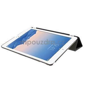 Trifold polohovateľné puzdro na iPad Air 2 - čierne - 5