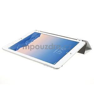 Trifold polohovateľné puzdro na iPad Air 2 - biele - 5