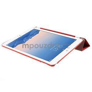 Trifold polohovateľné puzdro pre iPad Air 2 - červené - 5