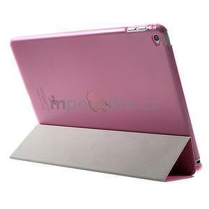 Trifold polohovateľné puzdro na iPad Air 2 - rose - 5