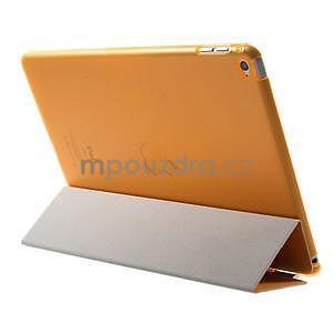 Trifold polohovateľné puzdro pre iPad Air 2 - oranžové - 5