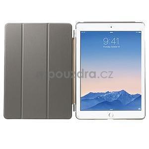 Trifold polohovateľné puzdro pre iPad Air 2 - champagne - 5