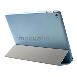 Trifold polohovateľné puzdro na iPad Air 2 - modré - 5