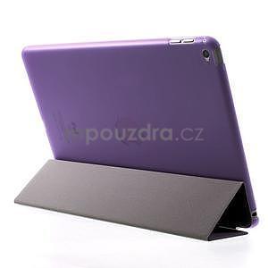 Trifold polohovateľné puzdro na iPad Air 2 - fialové - 5