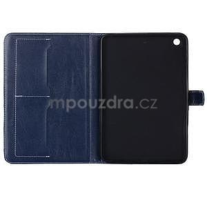 Fashion style puzdro na iPad Air 2 - tmavomodré - 5