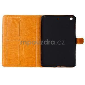Fashion style puzdro pre iPad Air 2 - svetlohnedé - 5
