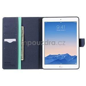 Excelent Diary puzdro pre iPad Air 2 - azúrové - 5