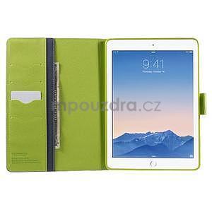 Excelent Diary puzdro pre iPad Air 2 - tmavomodré - 5
