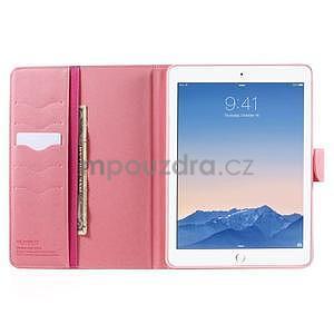 Diary peňaženkové puzdro na iPad Air - rose - 5