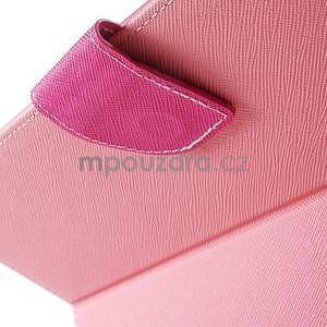 Diary peňaženkové puzdro pre iPad Air - ružové - 5
