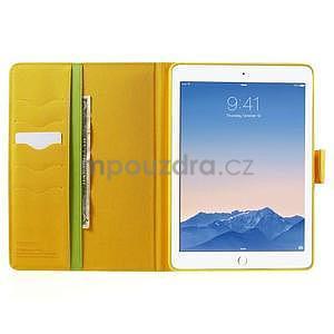 Diary peňaženkové puzdro pre iPad Air - zelené - 5