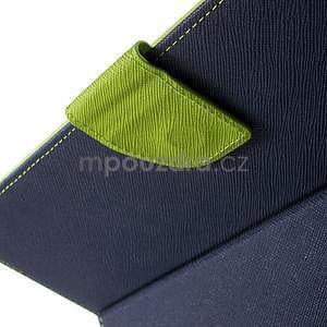 Diary peňaženkové puzdro na iPad Air - tmavomodré - 5