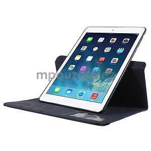 Circ otočné puzdro na Apple iPad Air - tmavomodré - 5