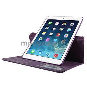 Circ otočné puzdro na Apple iPad Air - fialové - 5