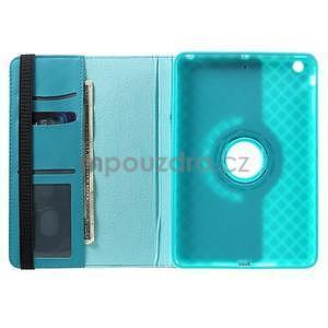 Circu otočné puzdro pre Apple iPad Mini 3, iPad Mini 2 a ipad Mini - modré - 5