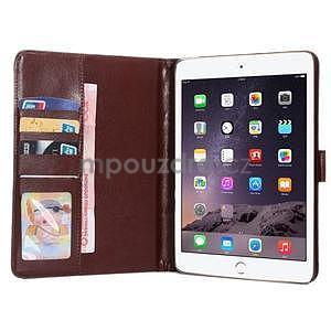 Cloth luxusné puzdro pre Ipad Mini 3, Ipad Mini 2 a Ipad Mini - hnedé - 5