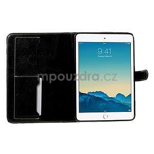 Kockované puzdro pre Apple iPad Mini 3, iPad Mini 2 a iPad Mini - čierne - 5