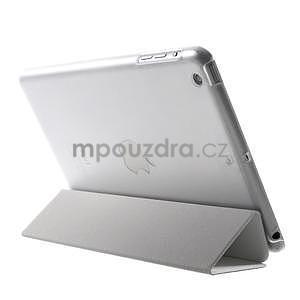 Classic troj polohové puzdro pre iPad Mini 3, ipad Mini 2 a na iPad Mini -  biele - 5