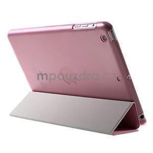 Classic troj polohové puzdro pre iPad Mini 3, ipad Mini 2 a na iPad Mini -  ružové - 5