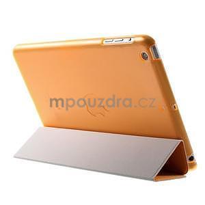 Classic troj polohové puzdro pre iPad Mini 3, ipad Mini 2 a na iPad Mini -  oranžová - 5