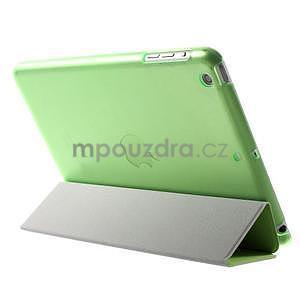 Classic troj polohové puzdro pre iPad Mini 3, ipad Mini 2 a na iPad Mini -  zelené - 5