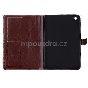 Costa puzdro pre Apple iPad Mini 3, iPad Mini 2 a iPad Mini - tmavohnedé - 5