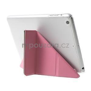 Origami ochranné puzdro iPad Mini 3, iPad Mini 2, iPad mini - ružové - 5