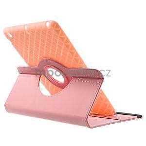 Circu otočné puzdro na Apple iPad Mini 3, iPad Mini 2 a ipad Mini - ružové - 5