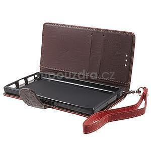 Supreme peňaženkové puzdro na Lenovo P70 - červené/hnedé - 5