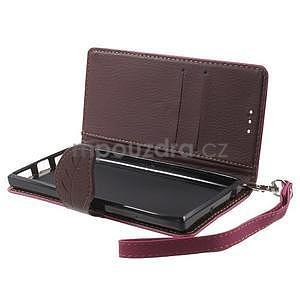 Supreme peňaženkové puzdro na Lenovo P70 - rose/hnedé - 5