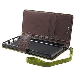 Supreme peňaženkové puzdro na Lenovo P70 - zelené/hnedé - 5