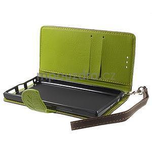 Supreme peňaženkové puzdro pre Lenovo P70 - hnedé/zelené - 5