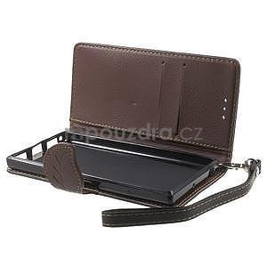 Supreme peňaženkové puzdro pre Lenovo P70 - čierné/hnedé - 5