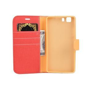 Clothy PU kožené pouzdro na mobil Doogee X5 - červené - 5