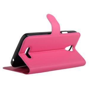 Peňaženkové puzdro pre mobil Doogee X6 - rose - 5