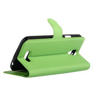 Peňaženkové puzdro pre mobil Doogee X6 - zelené - 5
