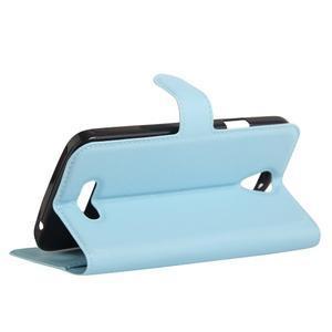 Peňaženkové puzdro pre mobil Doogee X6 - svetlomodré - 5