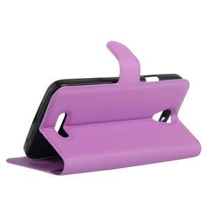 Peněženkové pouzdro na mobil Doogee X6 - fialové - 5