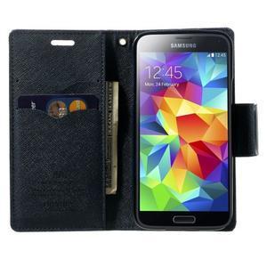 Diary PU kožené puzdro pre Samsung Galaxy S5 mini - fialové - 5