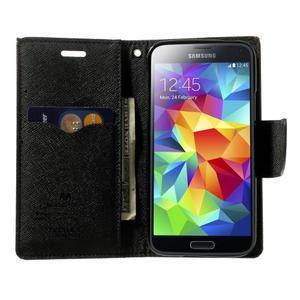Diary PU kožené puzdro pre Samsung Galaxy S5 mini - hnedé - 5