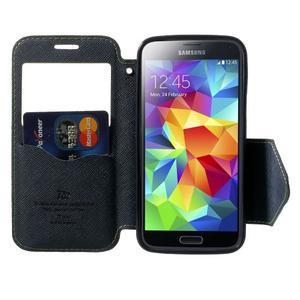 Peňaženkové puzdro s okienkom pro Samsung Galaxy S5 mini -  zelené - 5