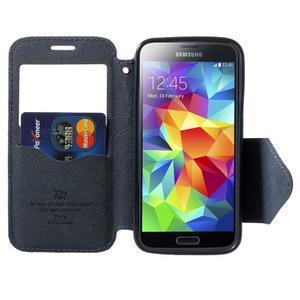 Peňaženkové puzdro s okienkom pro Samsung Galaxy S5 mini -  fialové - 5