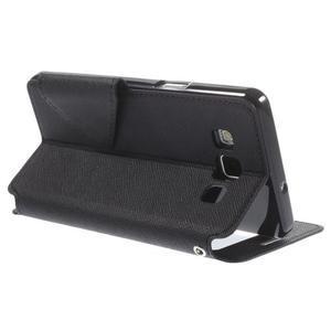 Štýlové puzdro s okienkom pre Samsung Galaxy A5 - čierné - 5
