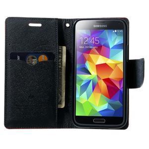Diary PU kožené pouzdro na Samsung Galaxy S5 mini - červené - 5