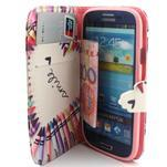 Peňaženkové puzdro na mobil Samsung Galaxy S3 - srdce z voskovek - 5/7
