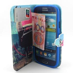 Peňaženkové puzdro pre mobil Samsung Galaxy S3 - lama - 5