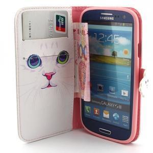 Peňaženkové puzdro pre mobil Samsung Galaxy S3 - mačička - 5