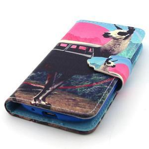 Fun peňaženkové puzdro pre Samsung Galaxy S3 mini - lama - 5