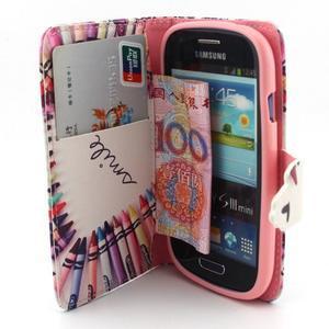 Fun peněženko puzdro na Samsung Galaxy S3 mini - srdíčko z voskovek - 5