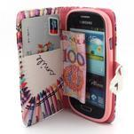 Fun peněženko puzdro na Samsung Galaxy S3 mini - srdíčko z voskovek - 5/7